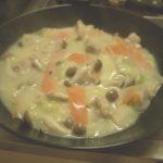 白菜と鶏肉のクリーム煮を作る。シチューとは違う中華風が白菜をうまくする