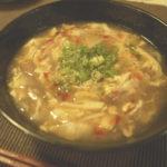 酸辣湯(サンラータン)を作る。酸味と辛みのハーモニーは椎茸の戻し汁がポイント