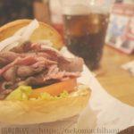 噛み締める肉肉しさ!トミーズ(諫早)で自家製ローストビーフバーガーを頂く